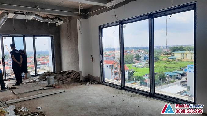 Cửa Nhôm Kính Viral Window Cánh Trượt Cao Cấp - Minh An Window Đã Thi Công