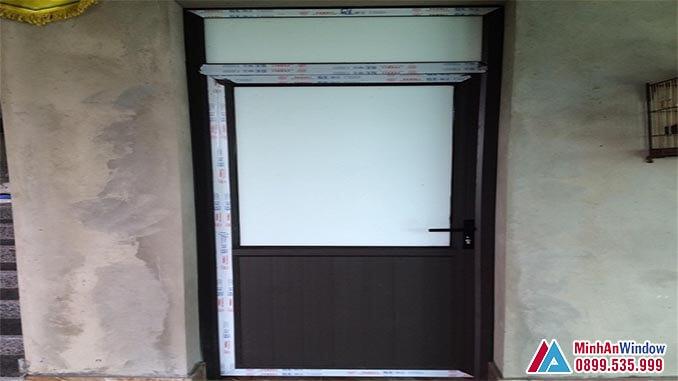 Cửa nhôm kính PMA 1 cánh cao cấp chất lượng - Minh An Window đã thi công