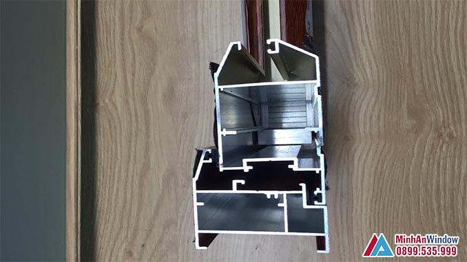 Cấu tạo bên trong của cửa nhôm kính PMA - Minh An Window cung cấp và lắp đặt