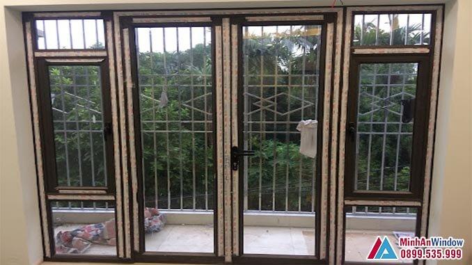 Cửa nhôm kính PMA 2 cánh cho các biệt thự dân sinh - Minh An Window đã thi công
