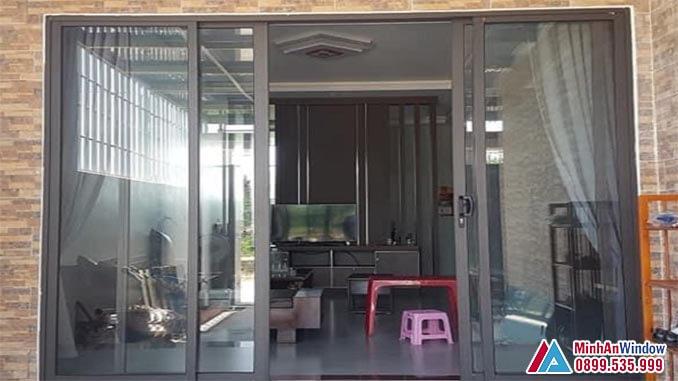 Cửa kính khung nhôm PMA cao cấp cho phòng khách - Minh An Window đã thi công