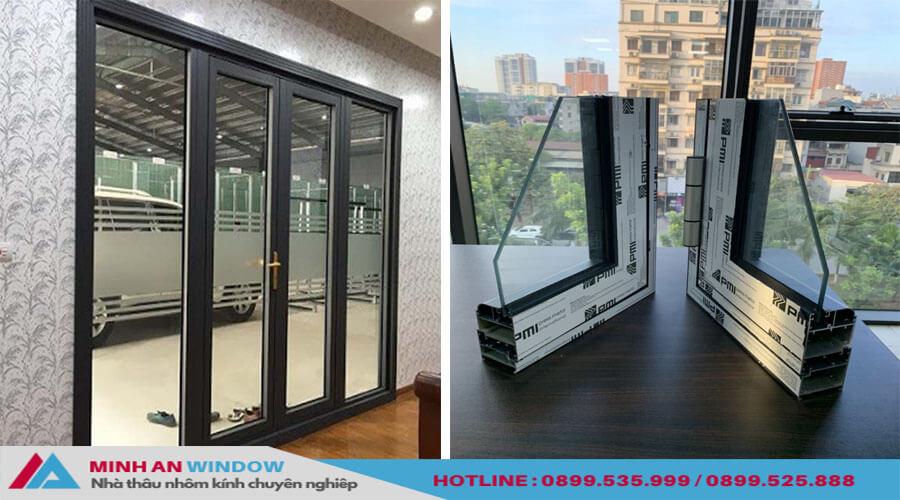 Cửa Nhôm PMI Cao Cấp Màu Trắng - Minh An Window Đã Thi Công