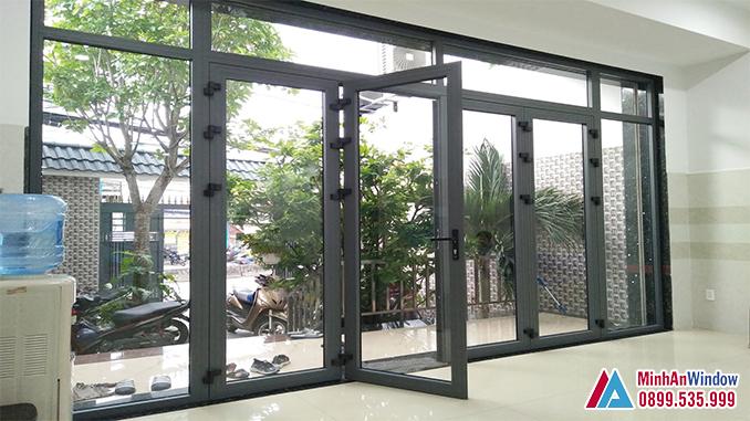 Cửa Nhôm Xingfa Cao Cấp Cho Phòng Khách - Minh An Window Đã Thi Công