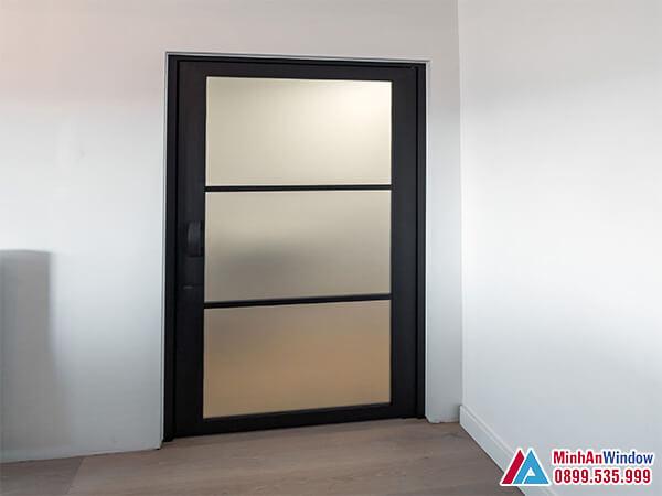 Cửa sắt 1 cánh cao cấp chất lượng chia ô cao cấp - Minh An Window đã thi công