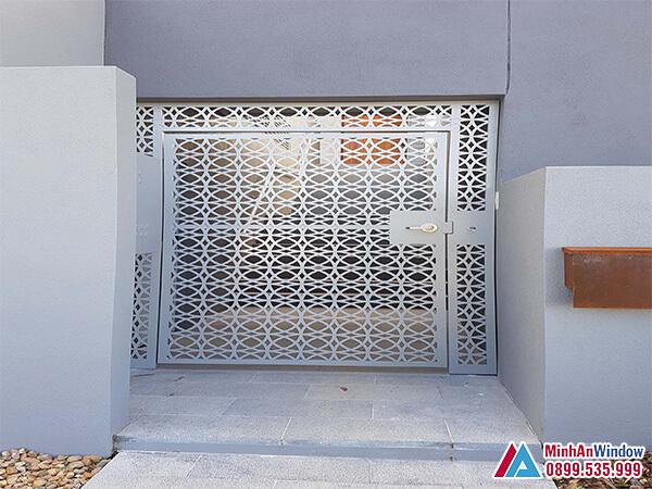Cửa cổng sắt 1 cánh cao cấp chất lượng - Minh An Window đã thi công