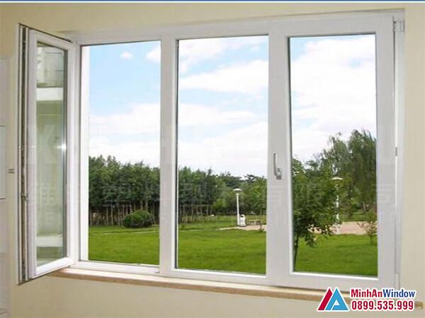 Cửa sổ nhôm kính 3 cánh mở quay - Minh An Window đã thi công