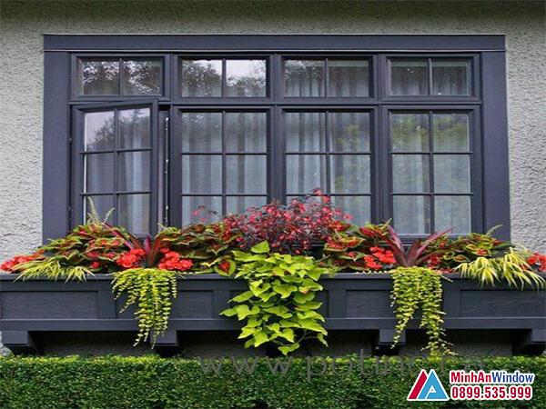 Cửa sổ nhôm kính 4 cánh chia ô được sử dụng nhiều nhất năm 2021 - Minh An Window đã thi công