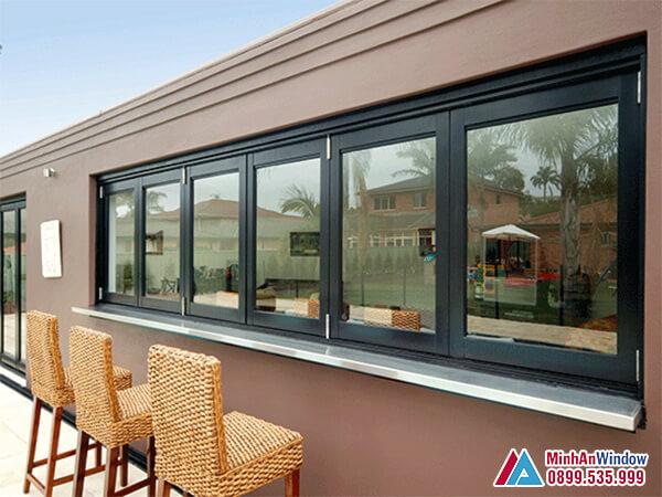 Cửa sổ nhôm kính 6 cánh cao cấp chất lượng - Minh An Window đã thi công