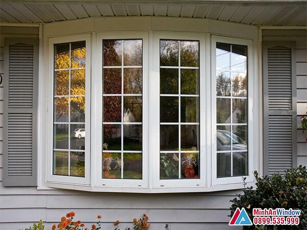 Cửa sổ nhôm kính 4 cánh chia ô với thiết kế mới đẹp - Minh An Window đã thi công