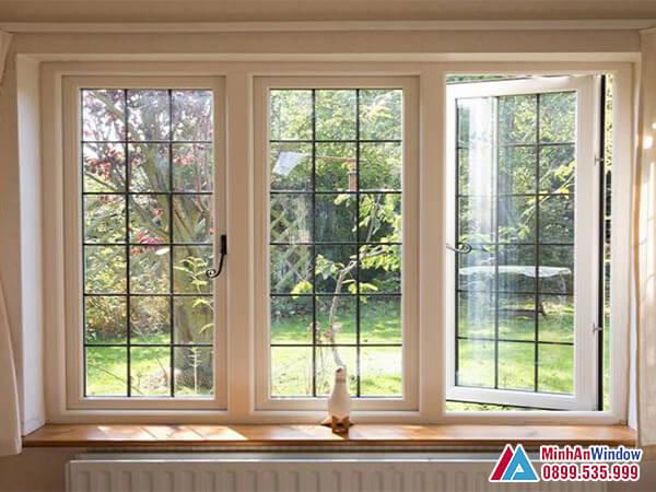 Cửa sổ nhôm kính 3 cánh cao cấp chất lượng cho phòng khách - Minh An Window đã thi công