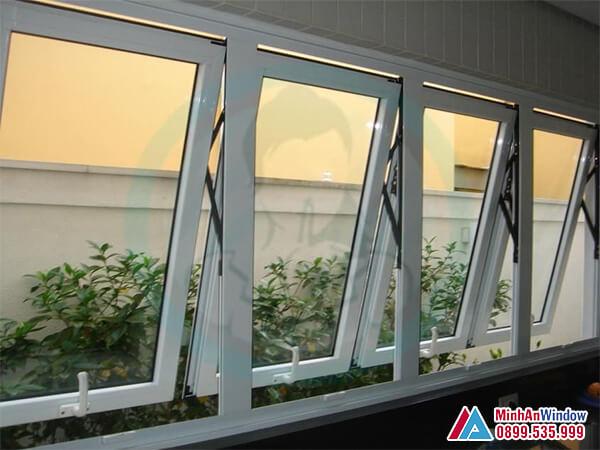 Mẫu Cửa sổ nhôm mở hất cao cấp chất lượng - Minh An Window đã thi công