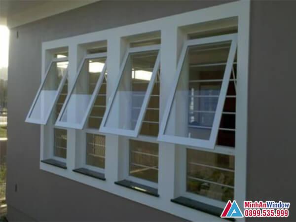 Mẫu Cửa sổ nhôm mở hất đơn giản - Minh An Window đã thi công