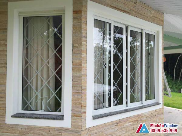 Cửa sổ nhôm cánh trượt cách điệu - Minh An Window đã thi công