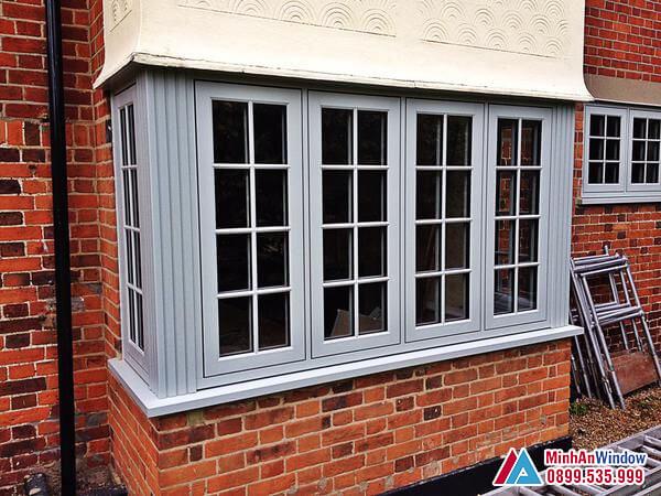 Cửa sổ nhôm 4 cánh với thiết kế đẹp - Minh An Window đã thi công