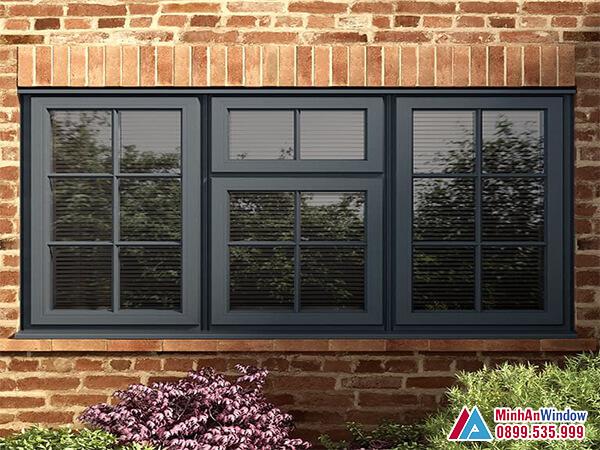Cửa sổ nhôm kính đẹp loại 3 cánh phổ biến - Minh An Window đã thi công