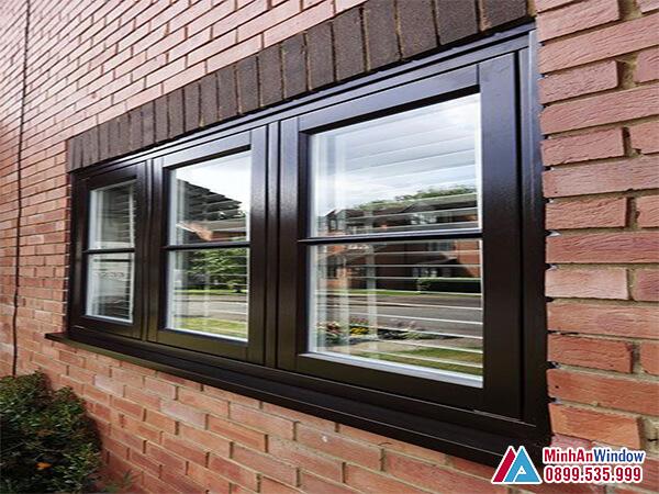 Cửa sổ nhôm kính cao cấp 3 cánh cao cấp chất lượng - Minh An Window đã thi công