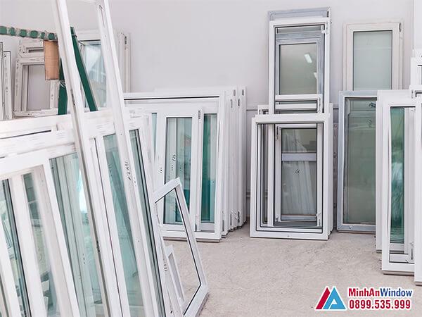 Mẫu cửa nhôm kính tại KCN Thạch Thất - Hà Nội Minh An Window lắp đặt