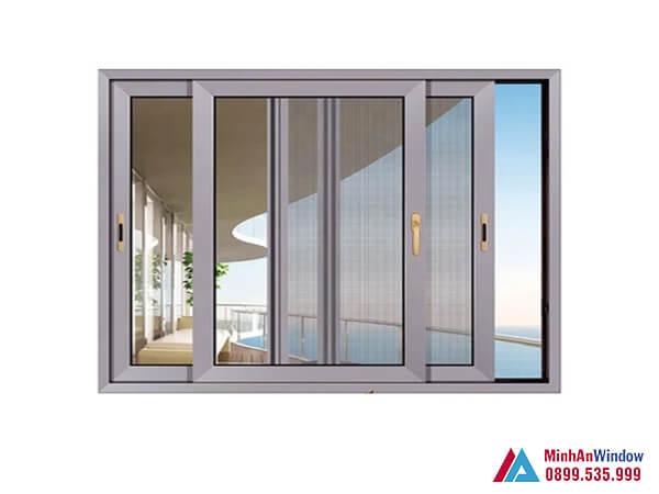 Cửa sổ nhôm kính 3 cánh trượt cao cấp chất lượng nhất năm 2021 - Minh An Window đã thi công