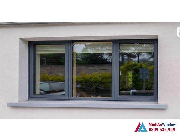 Cửa sổ nhôm kính 3 cánh đơn giản mà đẹp - Minh An Window đã thi công