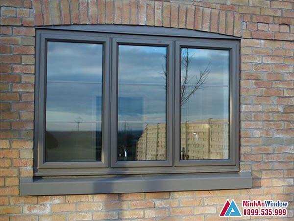 Cửa sổ nhôm kính 3 cánh sơn tĩnh điện cao cấp - Minh An Window đã thi công