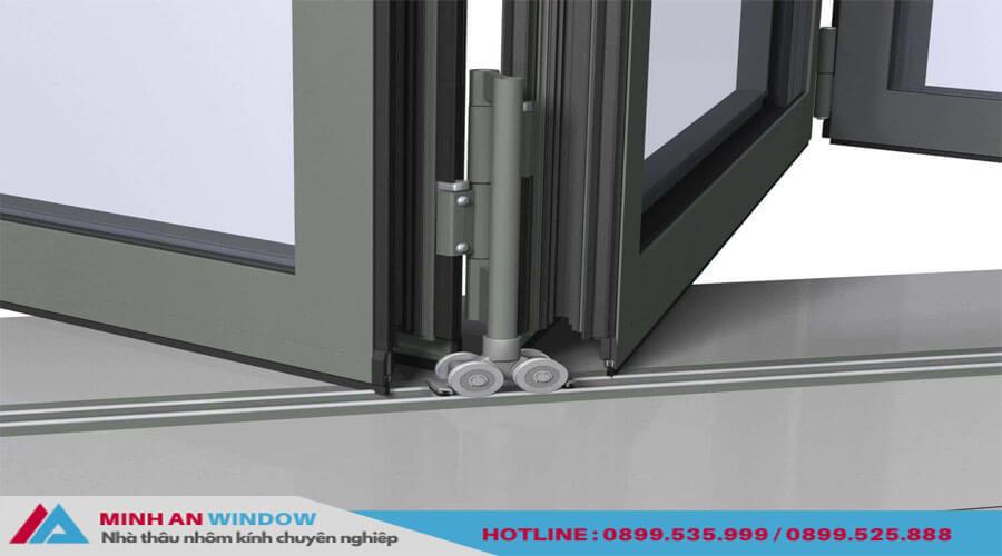 Cửa xếp gấp trượt Xingfa phổ biến cho các phòng khách lớn - Minh An Window đã thi công