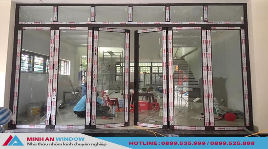 Cửa kính trượt gấp khung inox cao cấp chất lượng - Minh An Window đã thi công