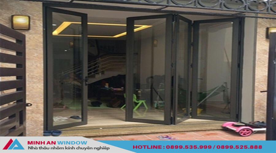 Cửa xếp gấp trượt Xingfa sơn tĩnh điện cao cấp - Minh An Window đã thi công
