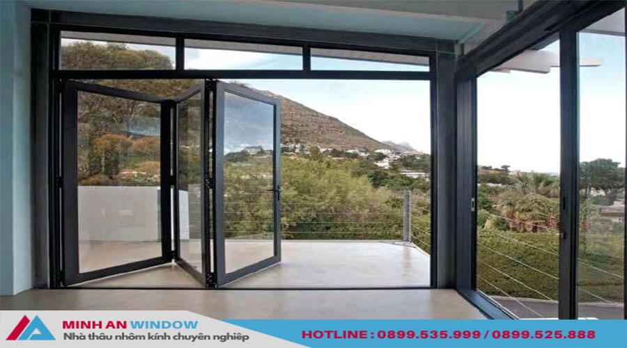 Cửa xếp gấp trượt Xingfa cho phòng khách cao cấp - Minh An Window đã thi công
