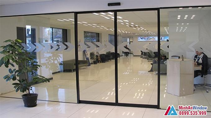 Cửa Tự Động 2 Cánh Cao Cấp Chất Lượng - Minh An Window Đã Thi Công