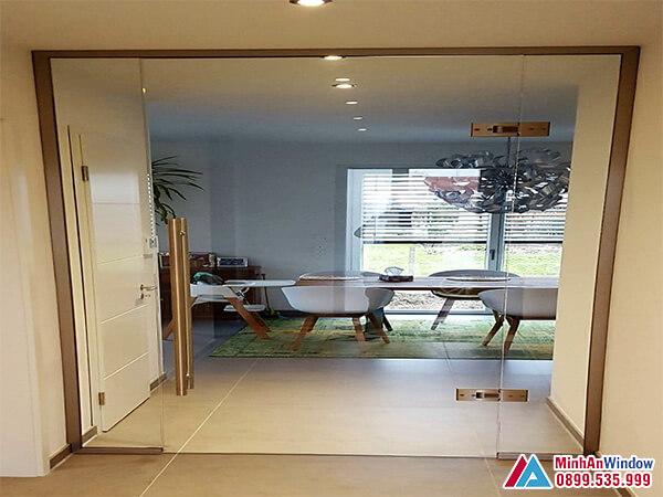 Cửa kính cường lực tại Thái Nguyên cao cấp chất lượng - Minh An Window cung cấp và lắp đặt