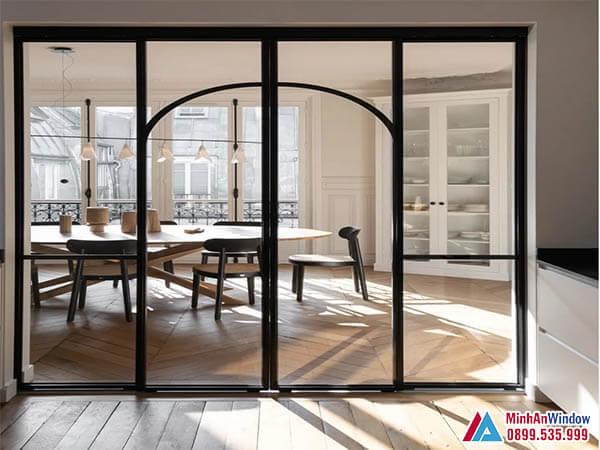 Cửa kính cường lực khung thép cao cấp chất lượng - Minh An Window đã thi công