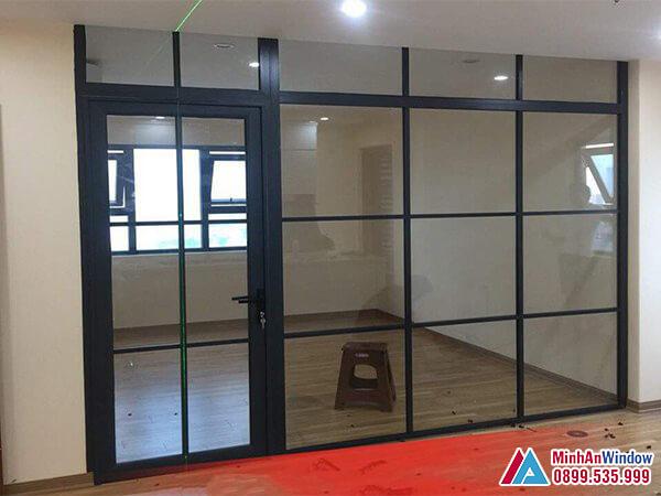 Cửa kính khung sắt sơn tĩnh điện đẹp - Minh An Window đã thi công
