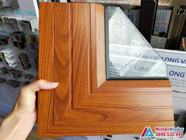 Mẫu Cửa nhôm Xingfa vân gỗ cao cấp - Minh An Window cung cấp và lắp đặt