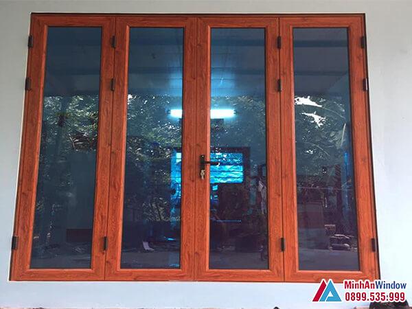 Cửa sổ cửa nhôm Xingfa 4 cánh - Minh An Window đã thi công