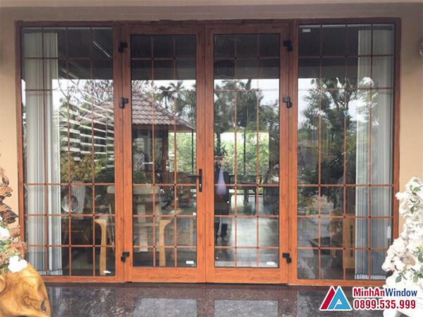 Cửa nhôm Xingfa vân gỗ cao cấp - Minh An Window đã thi công