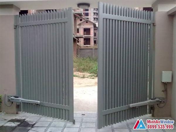 Cửa cổng tay đòn cao cấp chất lượng - Minh An Window đã thi công