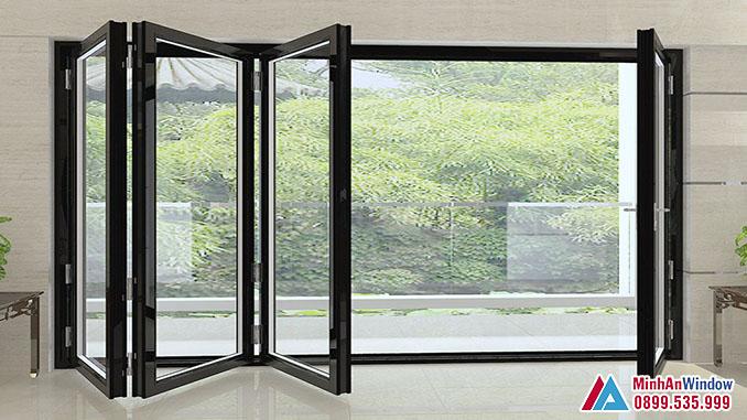 Cửa Kính Cường Lực 8mm Trượt Gấp Cao Cấp - Minh An Window Đã Thi Công