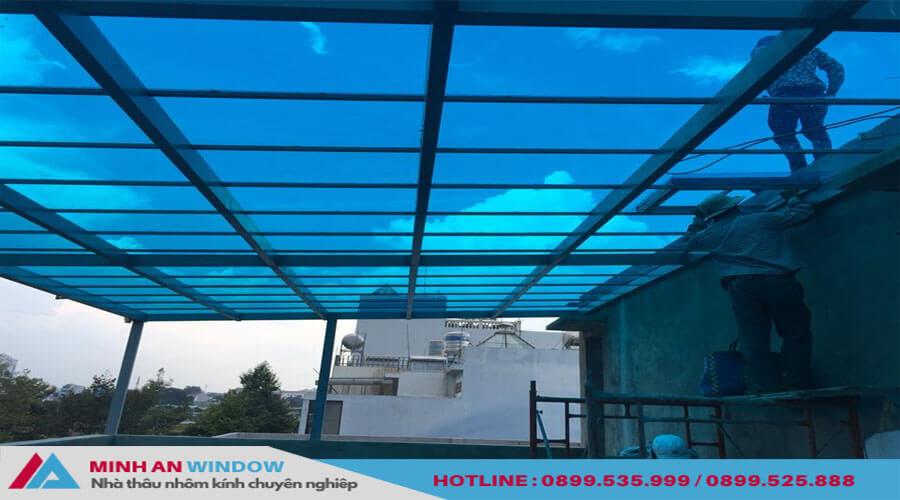 Tấm lợp thông minh đủ màu sắc cho các hành lang trường học - Minh An Window đã thi công