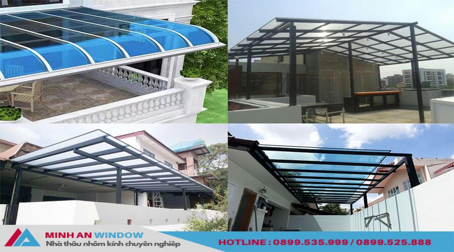 Tấm lợp thông minh khung nhôm cao cấp đủ màu sắc - Minh An Window đã thi công