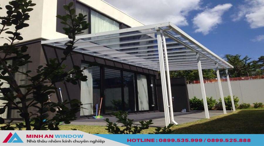 Tấm lợp thông minh mái vòm kéo trượt cho bể bơi - Minh An Window đã thi công