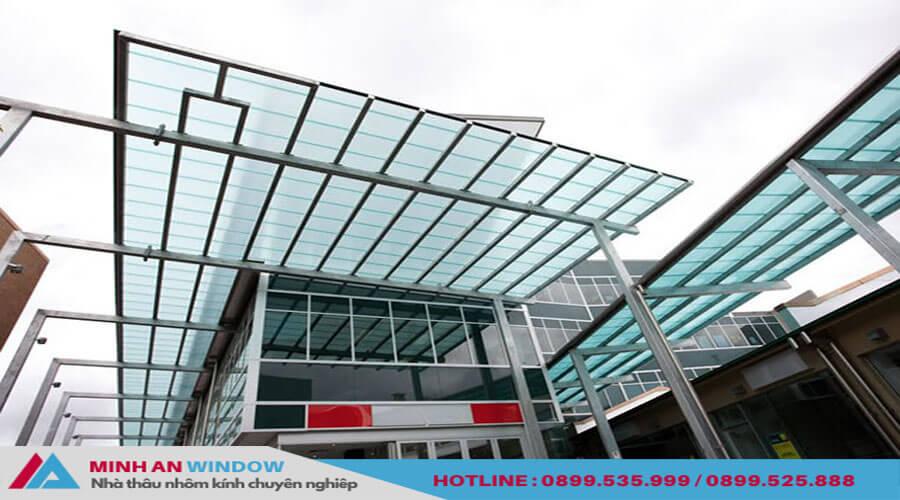 Tấm lợp thông minh mẫu gợn sóng phổ biến - Minh An Window đã thi công