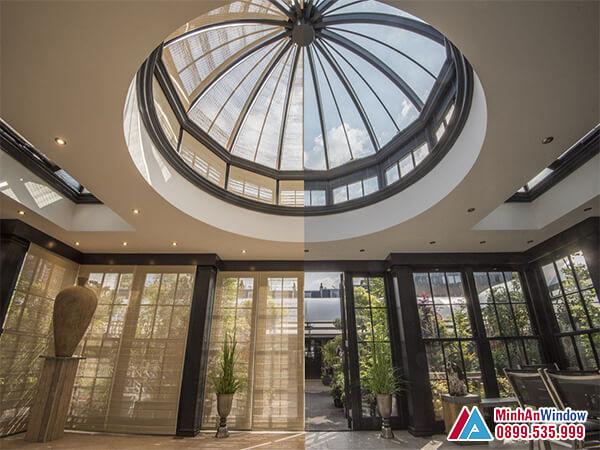 Mái kính giếng trời cao cấp giúp lấy ánh sáng tự nhiên tốt nhất - Minh An Window đã thi công