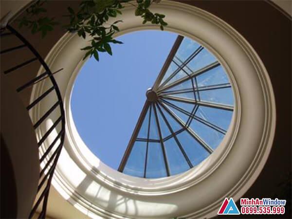 Mái kính giếng trời cao cấp phổ biến cho các khách sạn - Minh An Window đã thi công