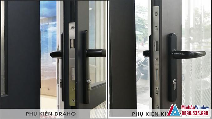 Phụ Kiện Cửa Nhôm Kính DRAHO & KINLONG Cao Cấp - Minh An Window Cung Cấp và Lắp Đặt