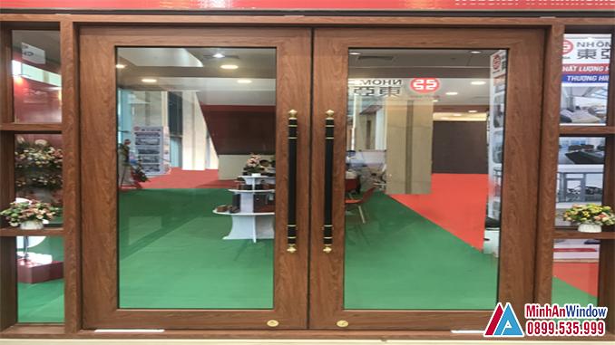 Cửa Nhôm Vân Gỗ Đông Á Cao Cấp - Minh An Window Cung Cấp Và Lắp Đặt
