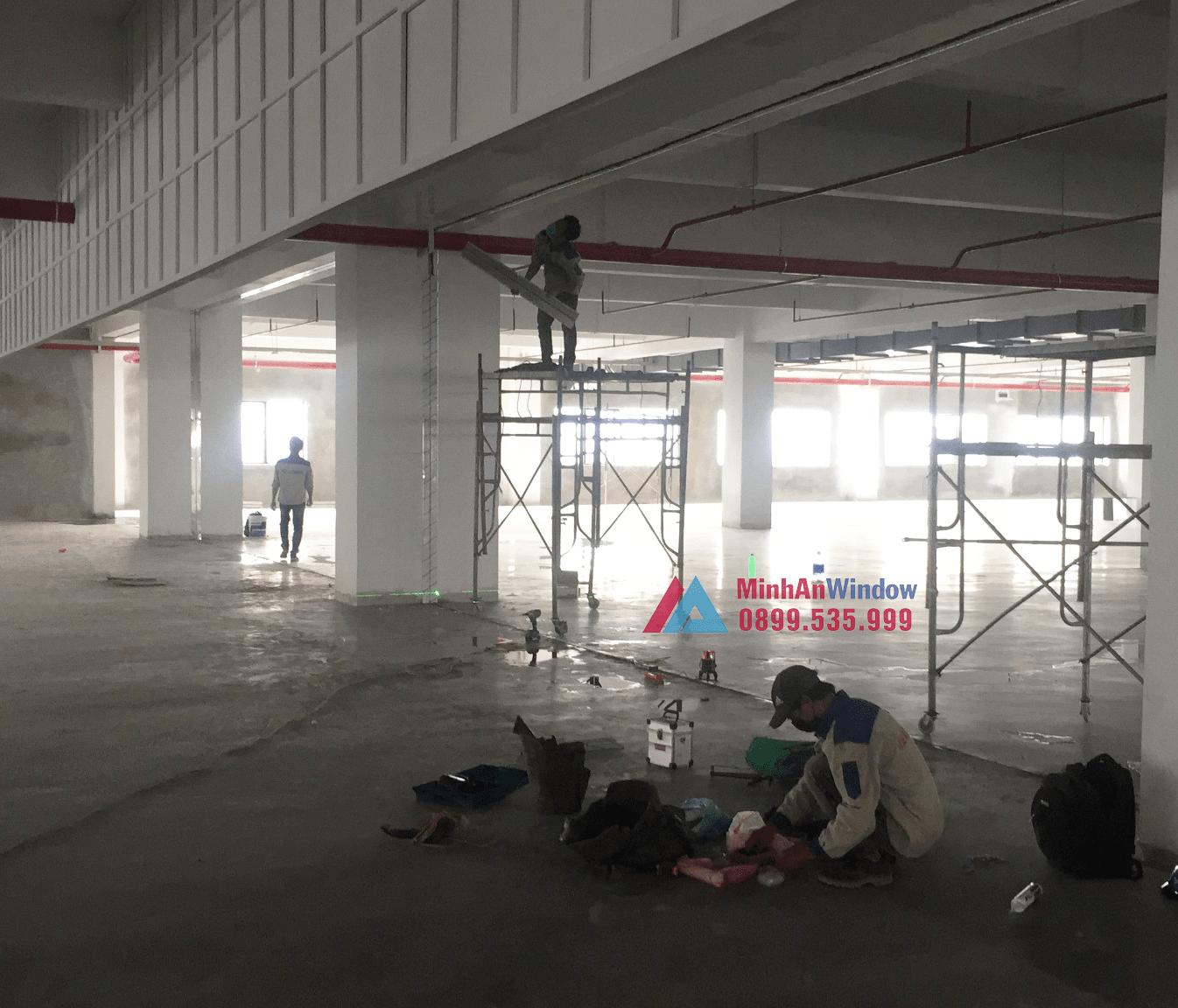 Công trình cửa nhôm kính tại KCN Thạch Thất - Hà Nội do Minh An Window lắp đặt