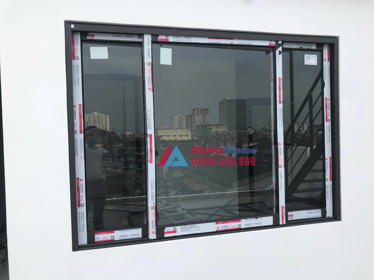 Mẫu cửa sổ nhôm kính Minh An Window lắp đặt cho khách hàng tại Yên Bái