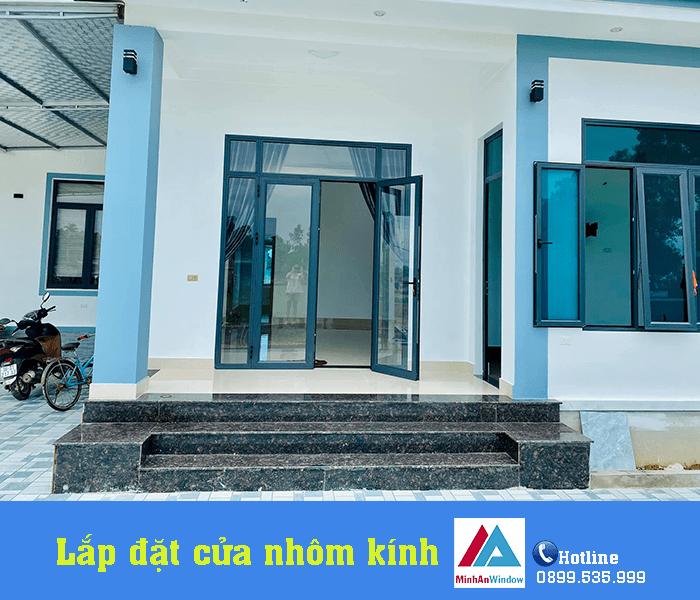 Công trình cửa nhôm kính nhà ở Minh An Window lắp đặt cho khách hàng tại Tuyên Quang