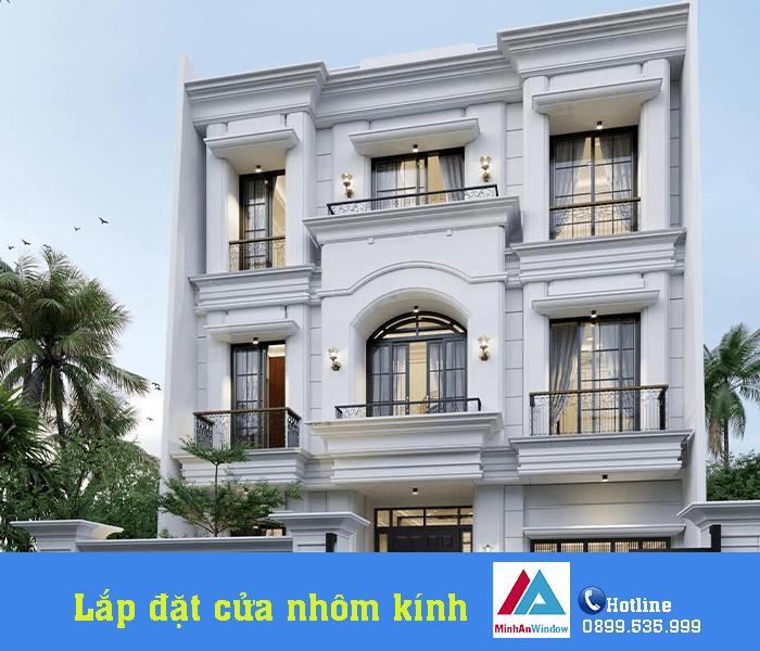 Lắp đặt cửa đi và cửa sổ cho nhà biệt thự tại tỉnh Thanh Hóa