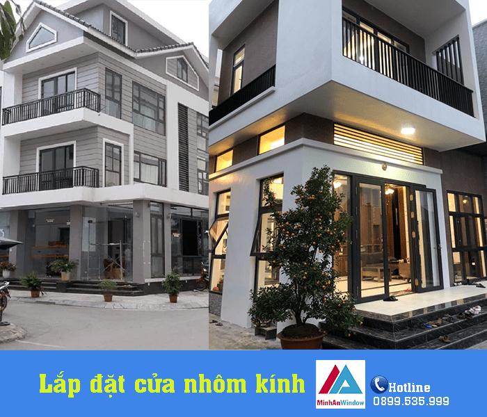 Lắp đặt cửa nhôm kính cho công trình nhà ở tại tỉnh Thanh Hóa